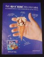 Magazine Ad for Drumstick Lil' Drums, 2005, Ice Cream