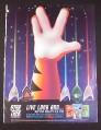 Magazine Ad for Kellogg's Star Trek Beam Up Badges, 2005
