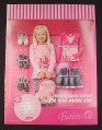 Magazine Ad for Barbie Clothes for Girls, 2008, Zellers