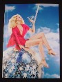 Magazine Ad for Skyy Vodka, 2007, Woman Riding  Disco Ball