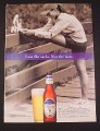 Magazine Ad for Michelob Ultra Beer, 2002, Lose The Carbs, Jogger
