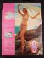 Magazine Ad for Venus Vibrance Razor, 2005, Woman in Bathing Suit