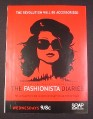 Magazine Ad for The Fashionista Diaries TV Show 2007 Che style Woman