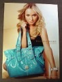 Magazine Ad for Dooney &Bourke Purse, 2008, Hayden Panettiere Celebrity
