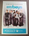 Magazine Ad for MyBoys My Boys TV Show, 2008, TBS, 8