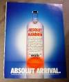 Magazine Ad for Absolut Mandarin, 1999, Absolut Arrival