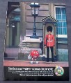 Magazine Ad for M&M Candies, 2002, Global Color Vote, British Guard,