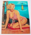 Magazine Ad for Cutty Sark Scotch, 2000, Pin-Up Girl Red Striped Bikini