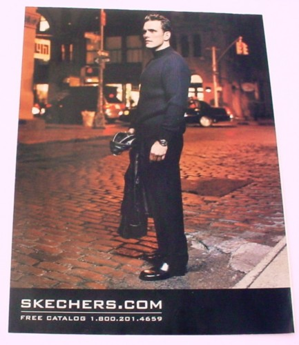 Magazine Ad for Skechers Footwear, 2001, Matt Dillon In Black Celebrity