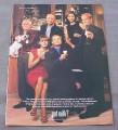 Magazine Ad for Got Milk, Cast of Frasier TV Show 1999
