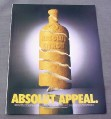 Magazine Ad for Absolut Appeal, Citron, Lemon Rind Bottle, 2000