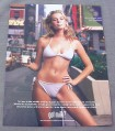 Magazine Ad for Got Milk, Rebecca Romijn Stamos in Bikini,  1999