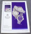 Magazine Ad for Bulova Millenia Watch 3 Models 98A48 98G37 98B17 1999