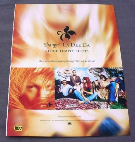 Magazine Ad for Stone Temple Pilots Shangri-La Dee Da ...