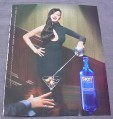 Magazine Ad for Skyy Vodka #17 Touche, 2001, Sexy Woman with Sword
