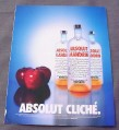 Magazine Ad for Absolut Cliche, 2001, Absolut Mandarin