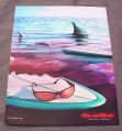 Magazine Ad for Bolle Sunglasses, 2001, Shark & Chewed Surfboard