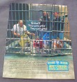 Magazine Ad for M&M's Candies, 2001, 4 M&M's In Jail
