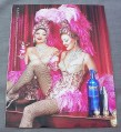 Magazine Ad for Skyy Vodka #5 Le Grand Finale, 2002, Sexy Showgirls