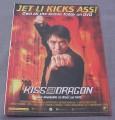 Magazine Ad for Kiss Of The Dragon Movie on DVD, 2002, Jet Li Kicks Ass