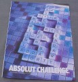 Magazine Ad for Absolut Challenge, 2001, Scrabble Pieces in Bottle Shape