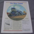 Magazine Ad for The Blue Comet Plate, Hamilton Collection, 1991