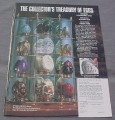 Magazine Ad for Collector's Treasury of Eggs, Franklin Mint, 1991