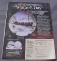 Magazine Ad for Anheusser-Busch Clydesdale Plate, Winter's Day, 1989