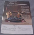 Magazine Ad for Gliding In Sculpture, Danbury Mint, 1989