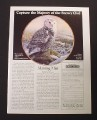 Magazine Ad for Morning Mist Plate, Snowy Owl, Hamilton Collection, 1987
