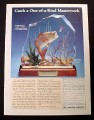 Magazine Ad for The Strike Sculpture, Largemouth Bass, Hamilton Collection, 1990