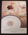 Magazine Ad for Wedgewood Plate, Runnymede Cobalt, 1984