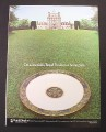 Magazine Ad for Royal Daulton Plate on Estate Lawn, 1983