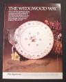 Magazine Ad for Wedgwood Bianca Pattern Plate, Dinnerware, 1983