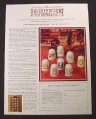 Magazine Ad for The Countrystore Thimbles, Franklin Porcelain, 1983