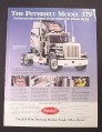 Magazine Ad for Peterbilt Model 379 Die-Cast Big Rig, Franklin Mint, 1996