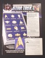 Magazine Ad for Star Trek Insignia Collection, Franklin Mint, 1994