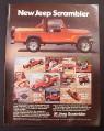 Magazine Ad for Jeep Scrambler 4-Wheeler, American Motors, 1981