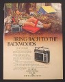 Magazine Ad for GE Portable Radio, Superadio, Model 7-2880, Camping, 1981