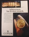 Magazine Ad for Corum Gold Coin Watch, 1987