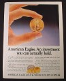 Magazine Ad for American Eagles, Gold & Silver Bullion Coins, 1987