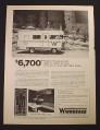 Magazine Ad for Winnebago D-18 Brave Motorhome Motor Home, 1972