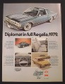 Magazine Ad for 1979 Dodge Diplomat Car, T-Bar Roof, 1978