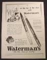 Magazine Ad for Waterman's Crusader & Dauntless Fountain Pens, 1967