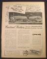 Magazine Ad for Fruehauf Trailers, Asphalt Tank Trailers, 1944