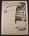 Magazine Ad for Fruehauf Trailers, Silvercup Bread, 1944