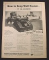 Magazine Ad for Underwood Elliot Fisher Co, Sundstrand Payroll Accounting Machine