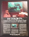 Magazine Ad for Electrohome 6 Foot ElectroBeam Color TV, 1976