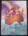 Magazine Ad for Huggies Supreme Diapers, Baby in Ark with Animals, 1998