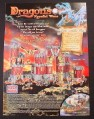 Magazine Ad for Mega Bloks Dragons Crystal Wars Toys, 2003